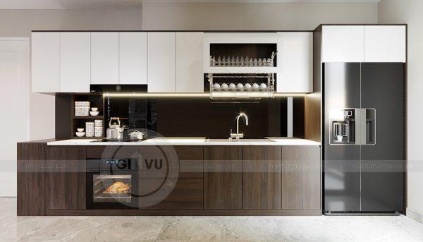 Thiết kế nội thất Vinhomes Dcapitale tòa C1 căn 07 cô Quý 4