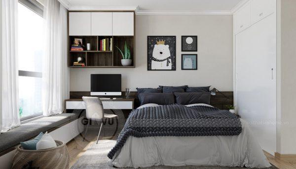 Thiết kế nội thất Vinhomes Green Bay căn 3 ngủ đẹp hiện đại 12