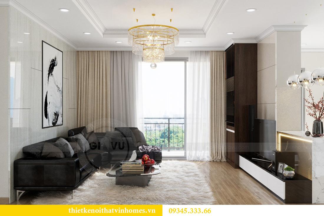 Thiết kế nội thất Vinhomes Green Bay căn 3 ngủ đẹp hiện đại 3