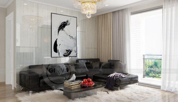 Thiết kế nội thất Vinhomes Green Bay căn 3 ngủ đẹp hiện đại 5