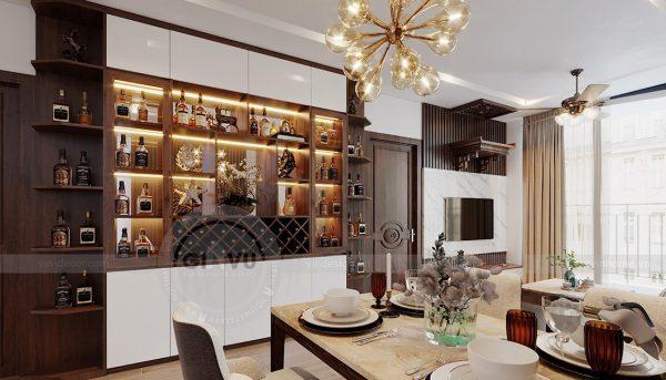 Thiết kế nội thất Vinhomes Metropolis tòa M1 căn 01 - anh Thịnh 3