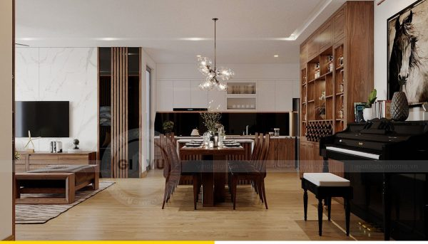 Thiết kế nội thất căn hộ chung cư Metropolis tòa M2 11 nhà anh Thắng 4
