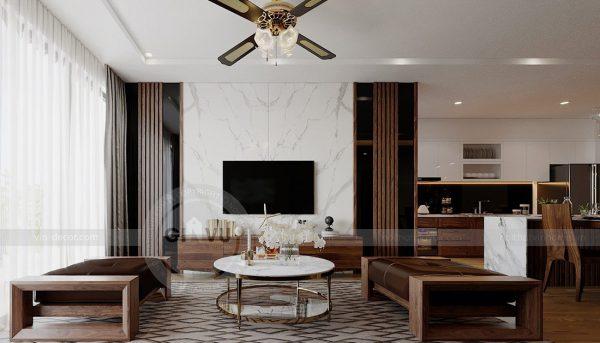 Thiết kế nội thất căn hộ chung cư Metropolis tòa M2 11 nhà anh Thắng 5