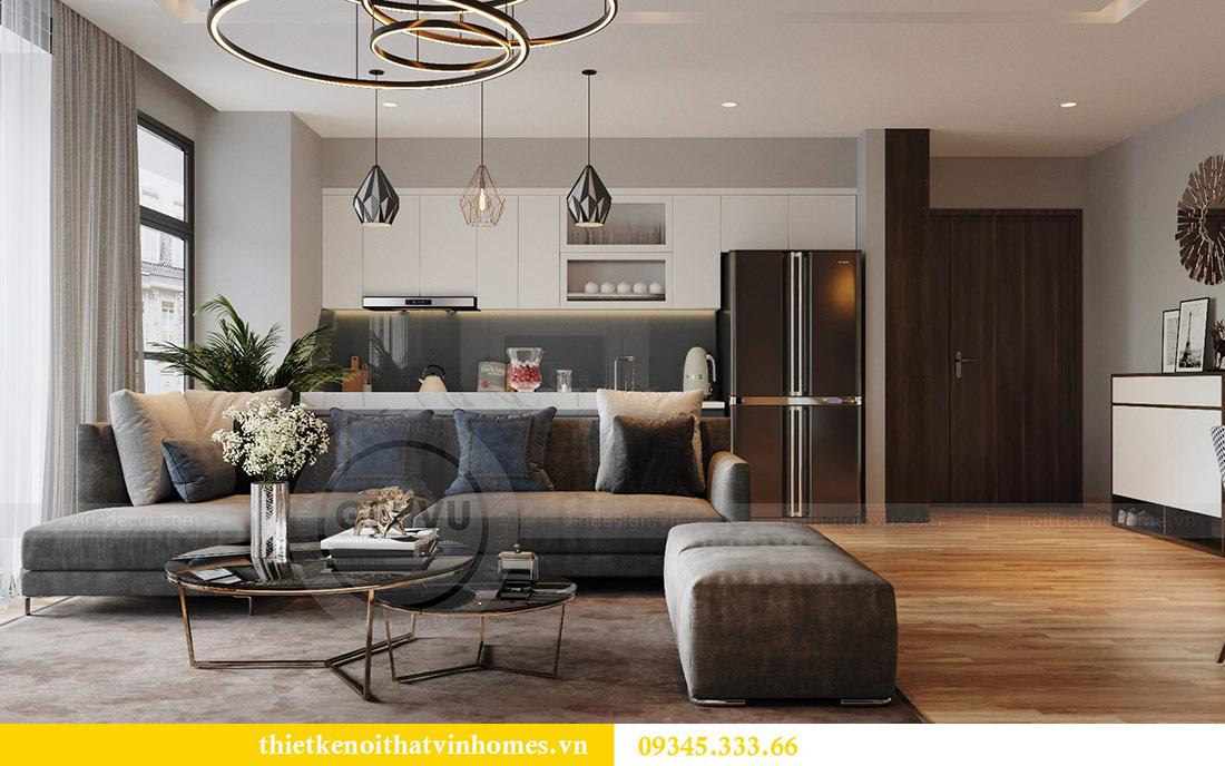 Thiết kế nội thất căn hộ Metropolis theo phong cách hiện đại 1
