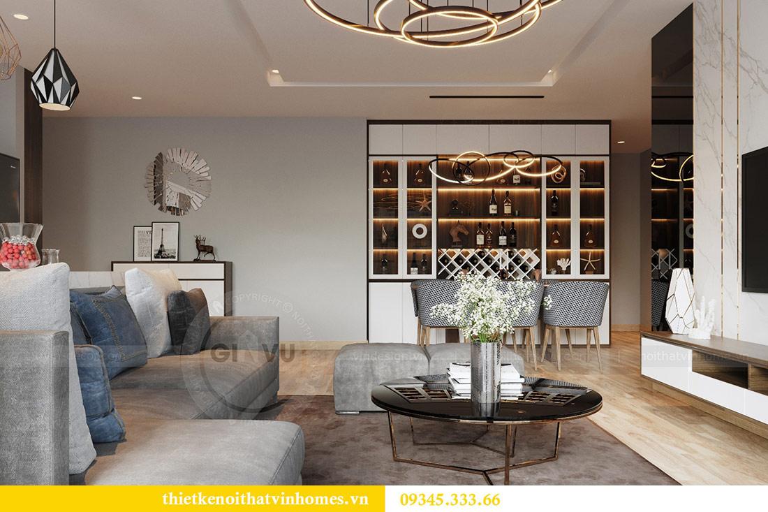 Thiết kế nội thất căn hộ Metropolis theo phong cách hiện đại 3