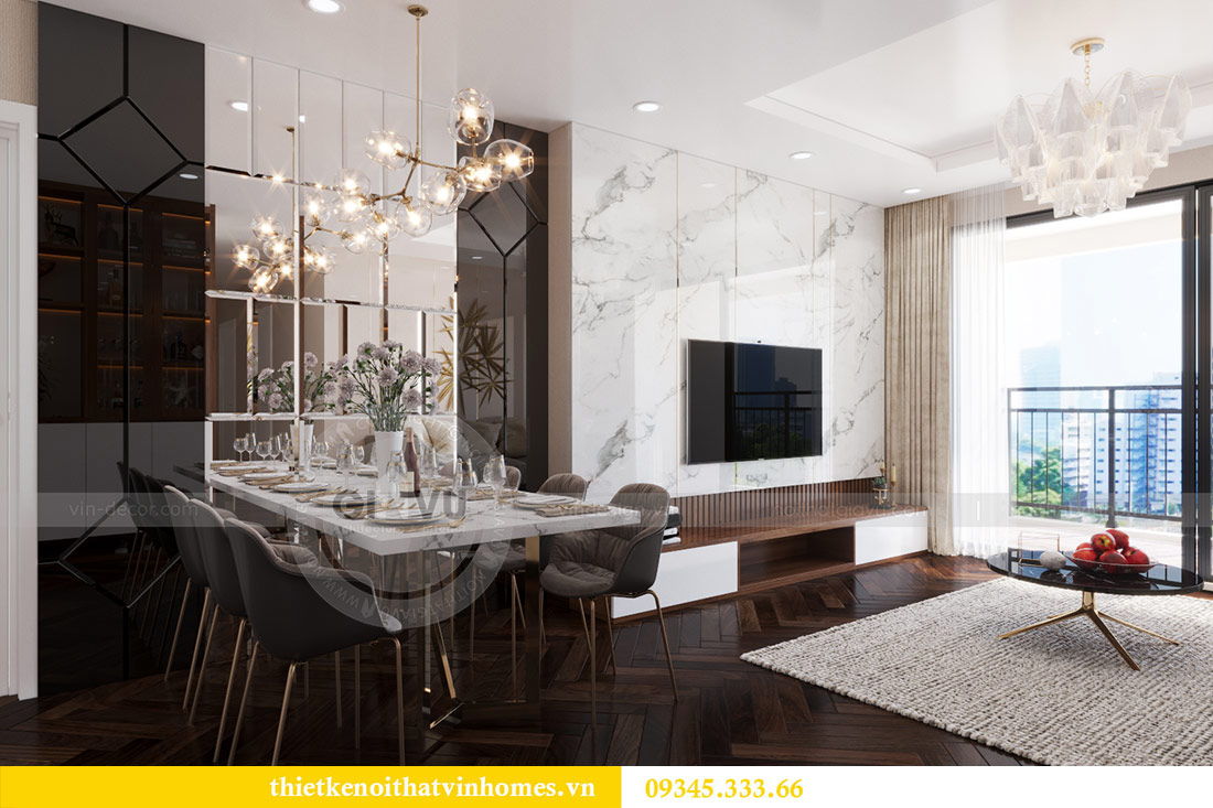 Thiết kế nội thất căn hộ Sky Lake tòa S1 căn 11 - chị Hồng 2