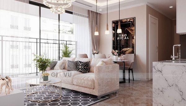 Tham khảo mẫu thiết kế nội thất chung cư phong cách hiện đại - anh Bình 4