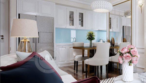Thiết kế nội thất chung cư Dcapitale tòa C1 7