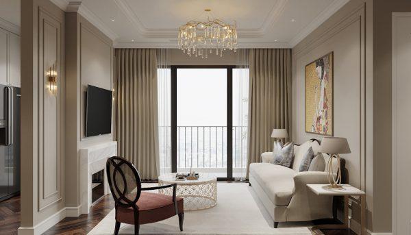 thiết kế nội thất chung cư Vinhomes West Point tòa W3 căn hộ 05A