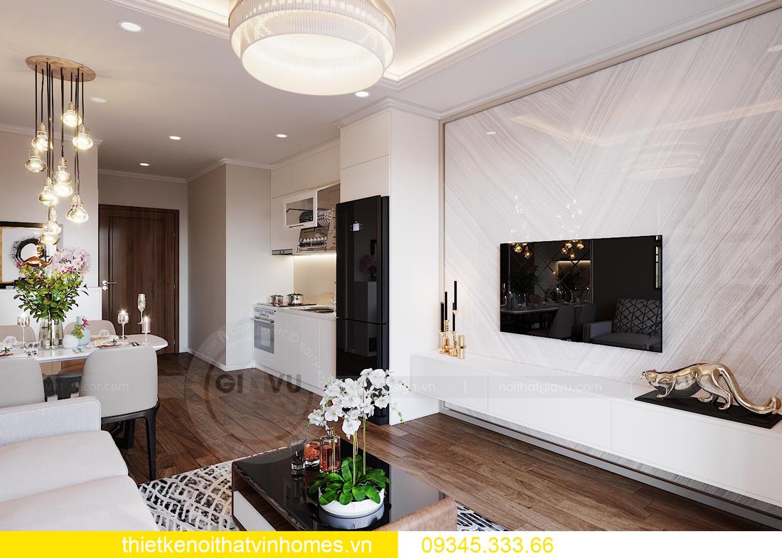 thiết kế nội thất căn hộ Vinhomes West Point tòa W3 căn 08A 2