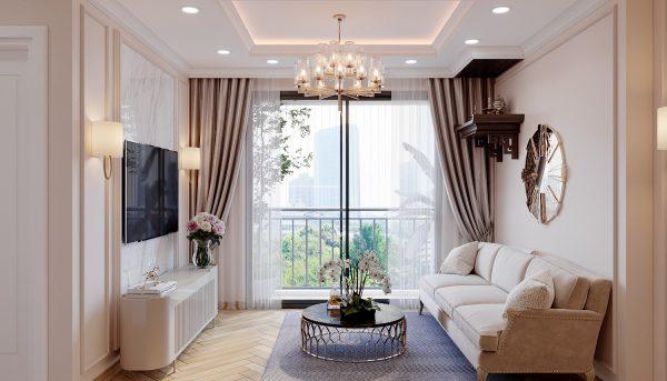 Thiết kế nội thất chung cư Smart City sang trọng tiện nghi