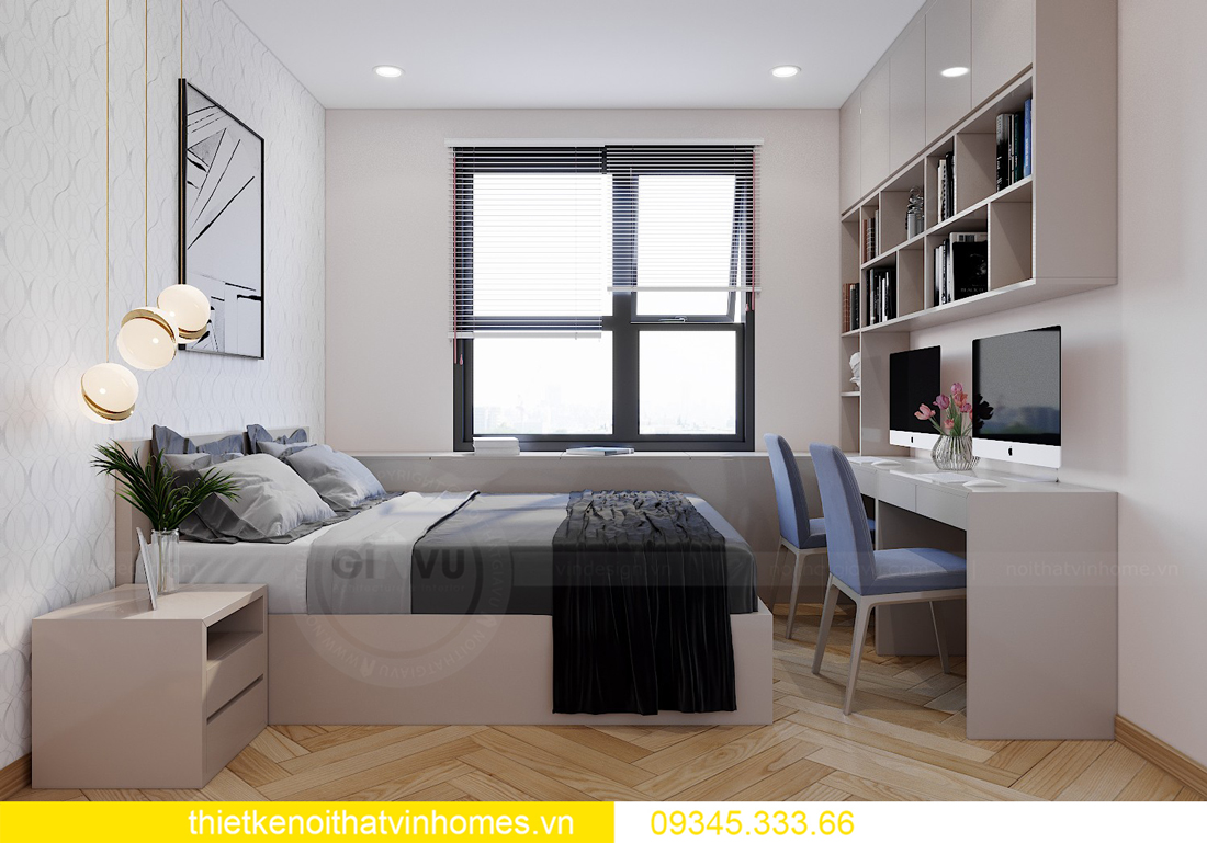 Thiết kế nội thất chung cư Smart City sang trọng tiện nghi 9