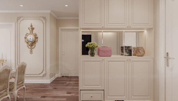 thiết kế nội thất căn hộ chung cư tân cổ điển nhà chị Như 1