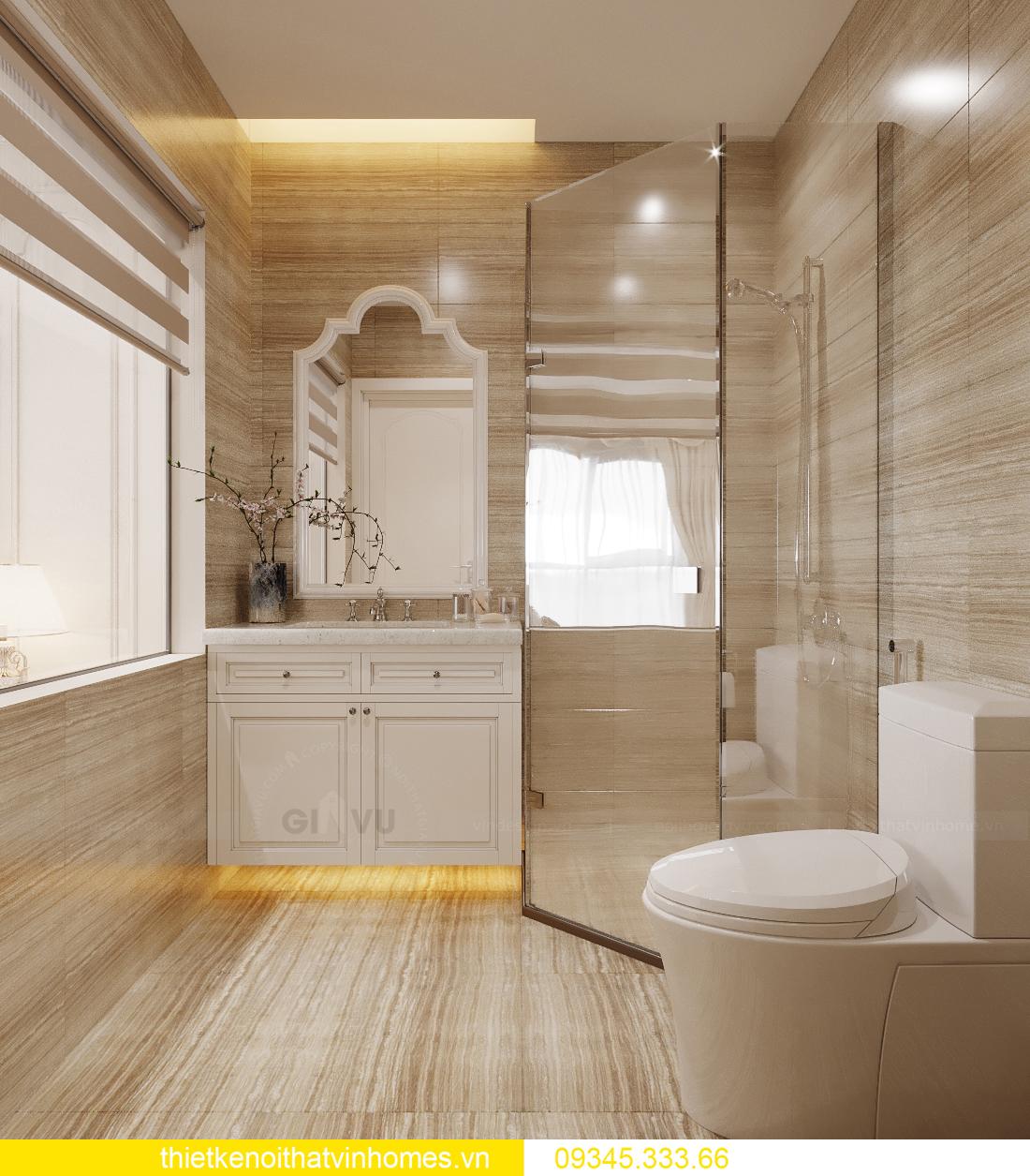 thiết kế nội thất căn hộ chung cư tân cổ điển nhà chị Như 10