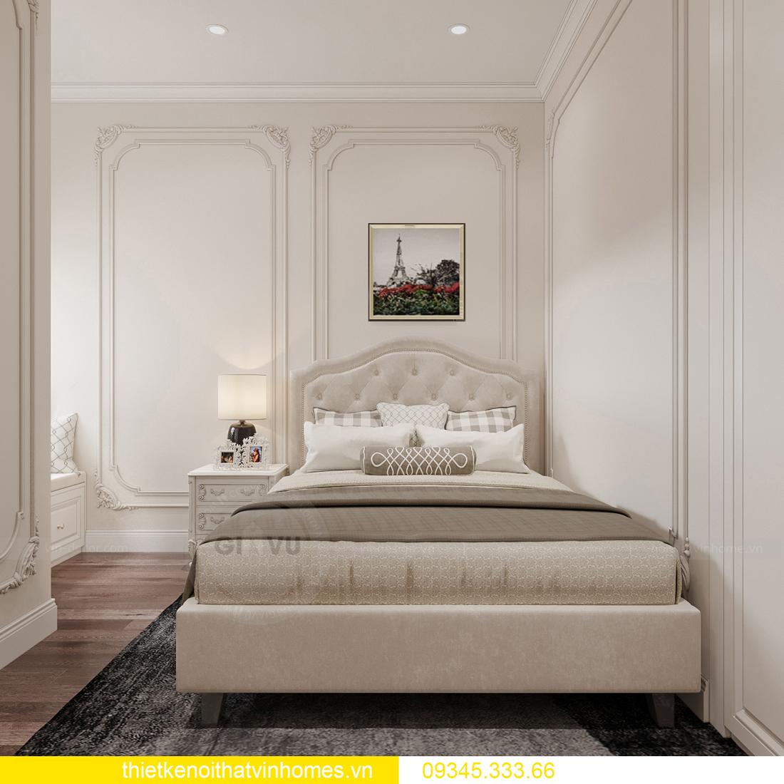 thiết kế nội thất căn hộ chung cư tân cổ điển nhà chị Như 13