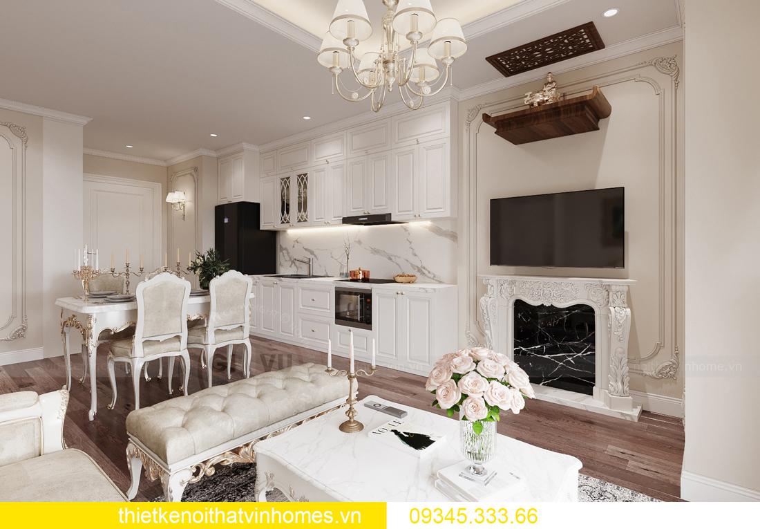 thiết kế nội thất căn hộ chung cư tân cổ điển nhà chị Như 2