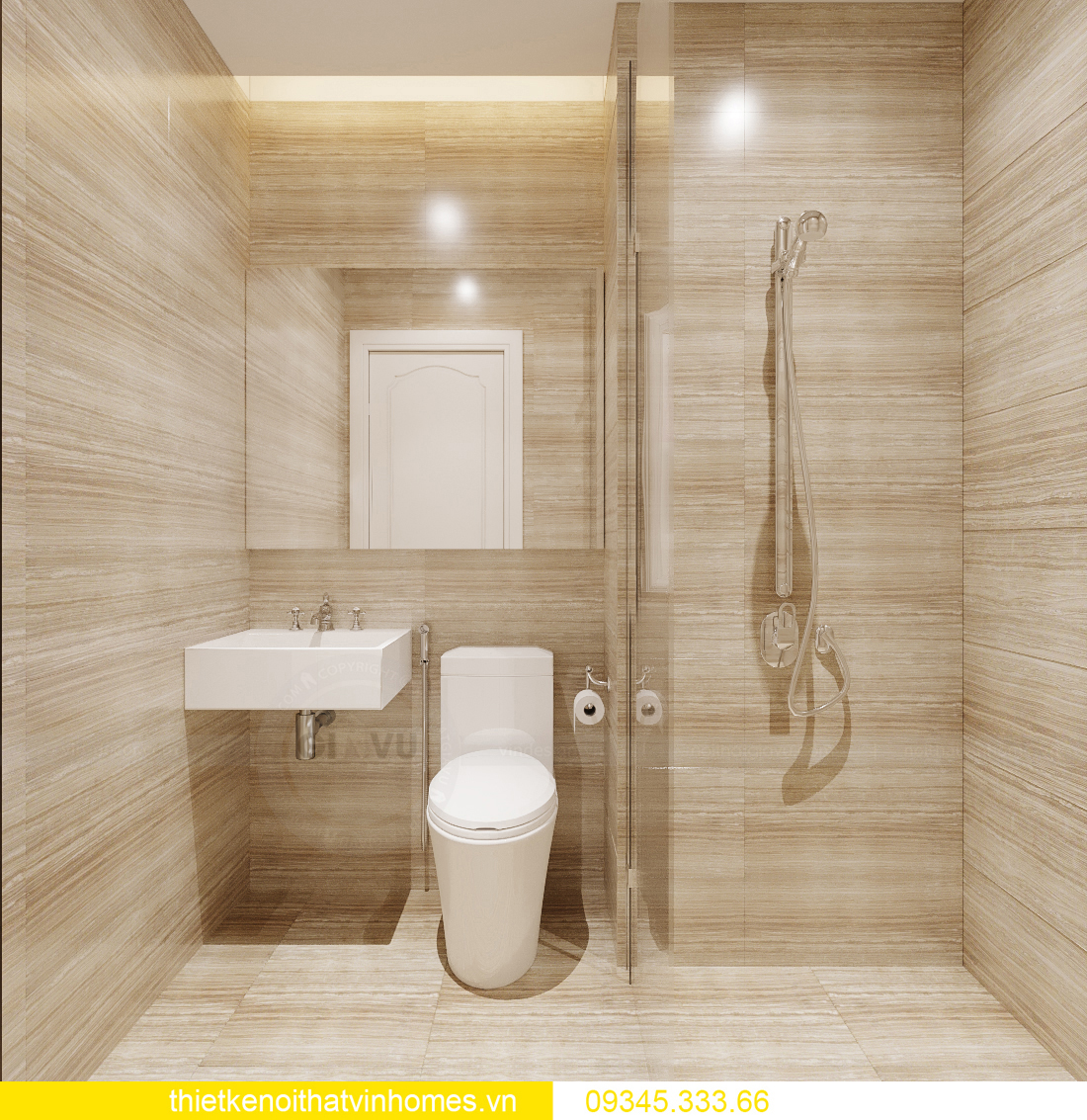 thiết kế nội thất căn hộ chung cư tân cổ điển nhà chị Như 5