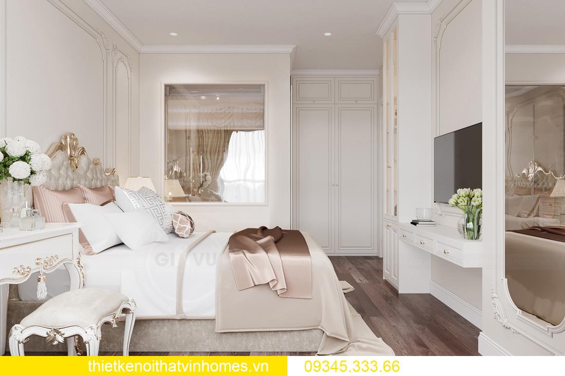 thiết kế nội thất căn hộ chung cư tân cổ điển nhà chị Như 8