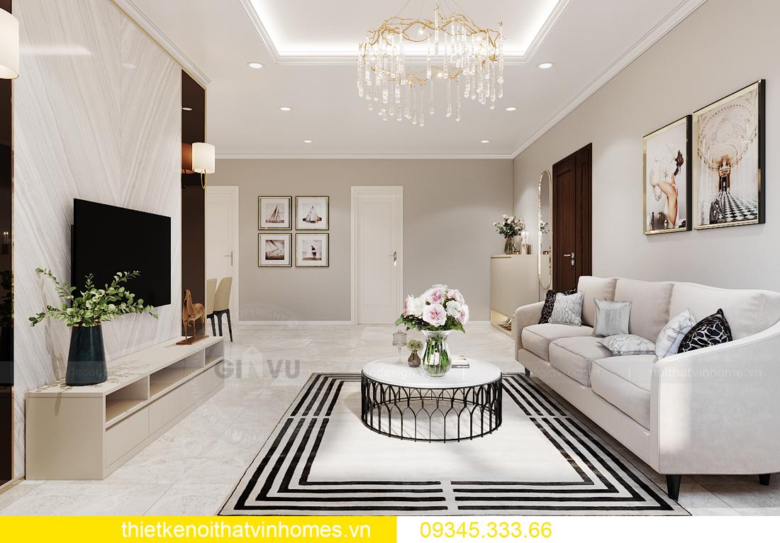 thiết kế nội thất Vinhomes Ocean Park căn hộ 3 phòng ngủ 2
