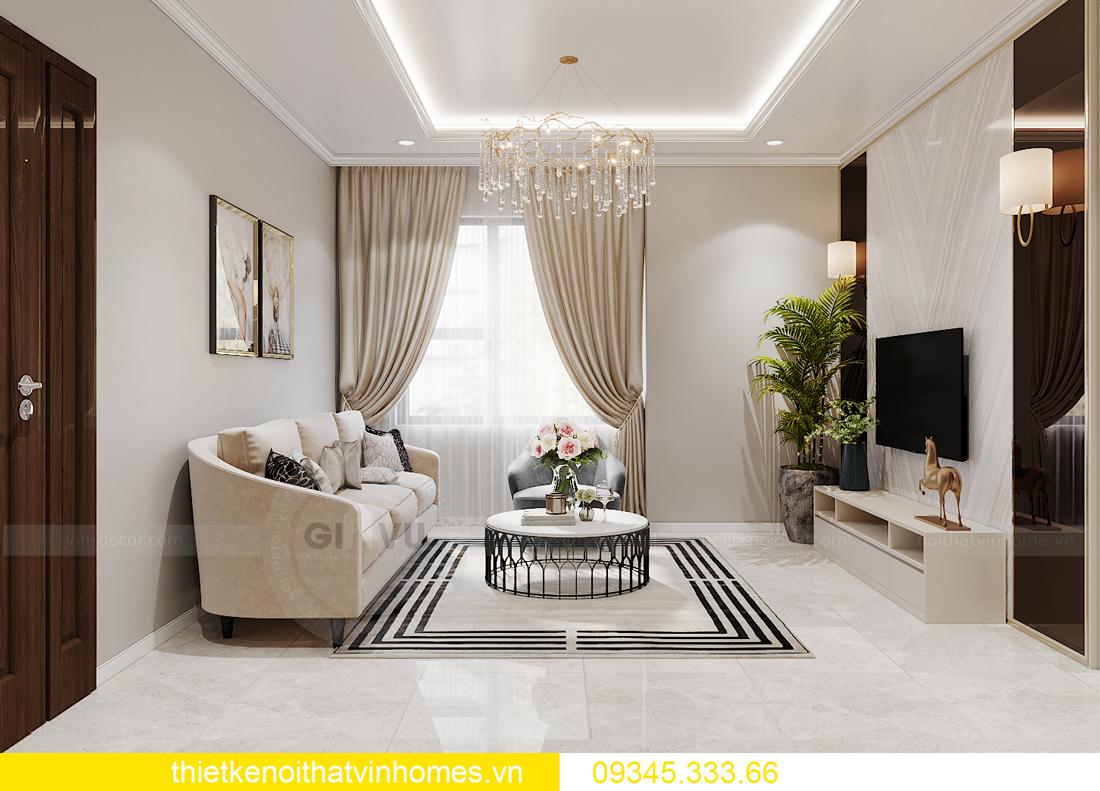 thiết kế nội thất Vinhomes Ocean Park căn hộ 3 phòng ngủ 3