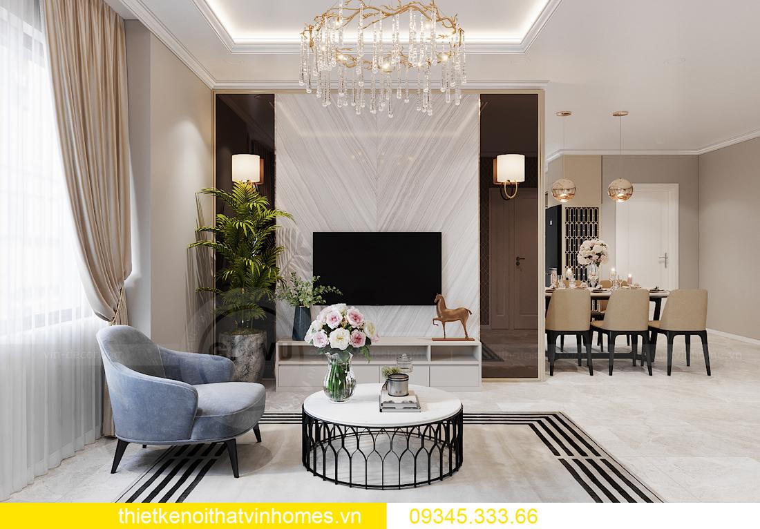 thiết kế nội thất Vinhomes Ocean Park căn hộ 3 phòng ngủ 4