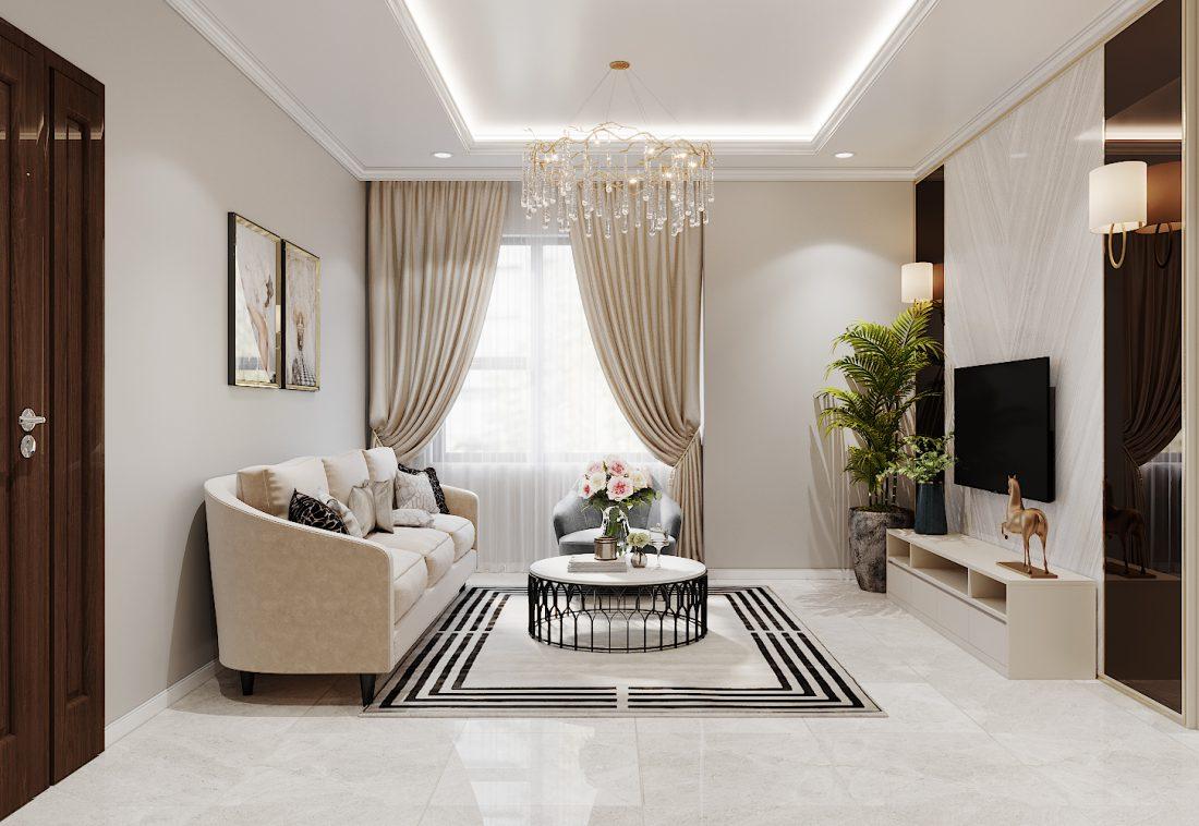 thiết kế nội thất Vinhomes Ocean Park căn hộ 3 phòng ngủ