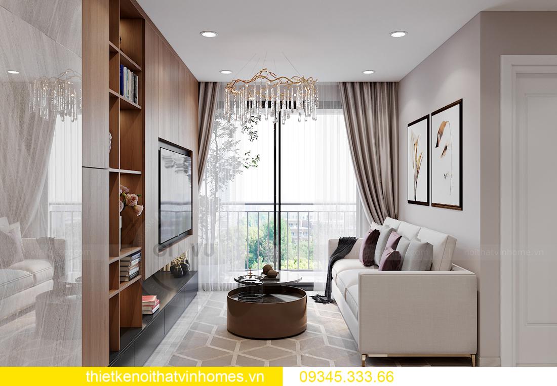 mẫu thiết kế nội thất Vinhomes Smart City tòa S2 căn hộ 17 3