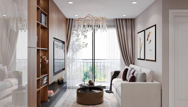 mẫu thiết kế nội thất Vinhomes Smart City tòa S2 căn hộ 17