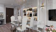 thiết kế nội thất chung cư Smart City 2 ngủ nhà chị Hà 1