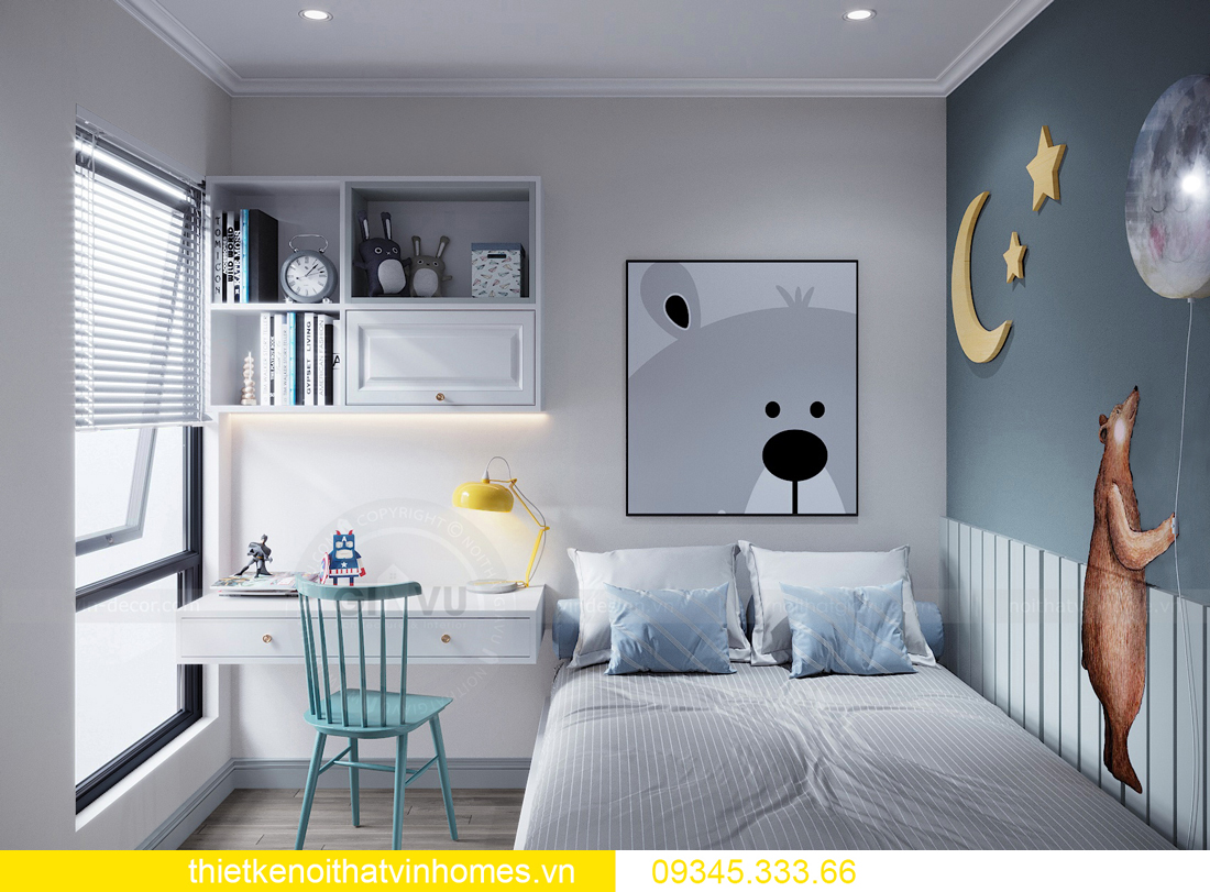 thiết kế nội thất chung cư Smart City 2 ngủ nhà chị Hà 10