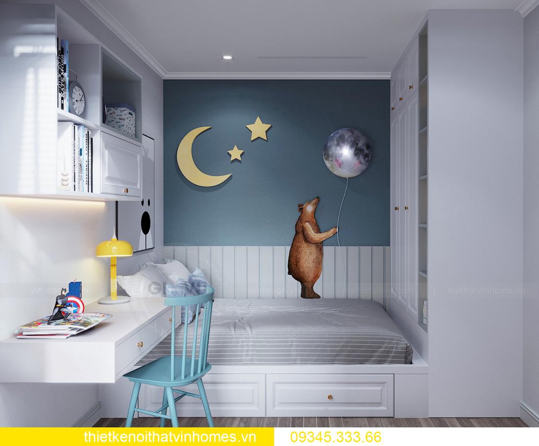 thiết kế nội thất chung cư Smart City 2 ngủ nhà chị Hà 11