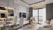 thiết kế nội thất chung cư Smart City 2 ngủ nhà chị Hà
