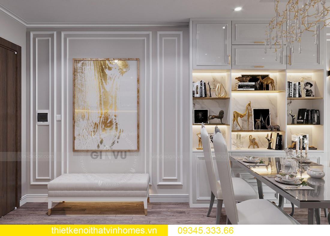 thiết kế nội thất chung cư Smart City 2 ngủ nhà chị Hà 2