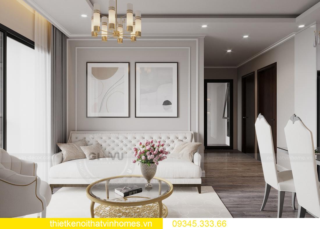 thiết kế nội thất chung cư Smart City 2 ngủ nhà chị Hà 4