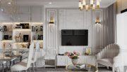 thiết kế nội thất chung cư Smart City 2 ngủ nhà chị Hà 5