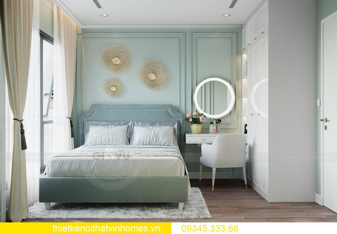 thiết kế nội thất chung cư Smart City 2 ngủ nhà chị Hà 7