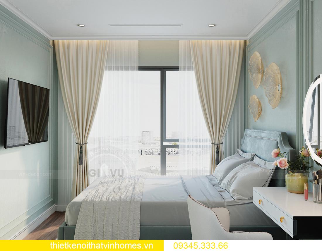 thiết kế nội thất chung cư Smart City 2 ngủ nhà chị Hà 9