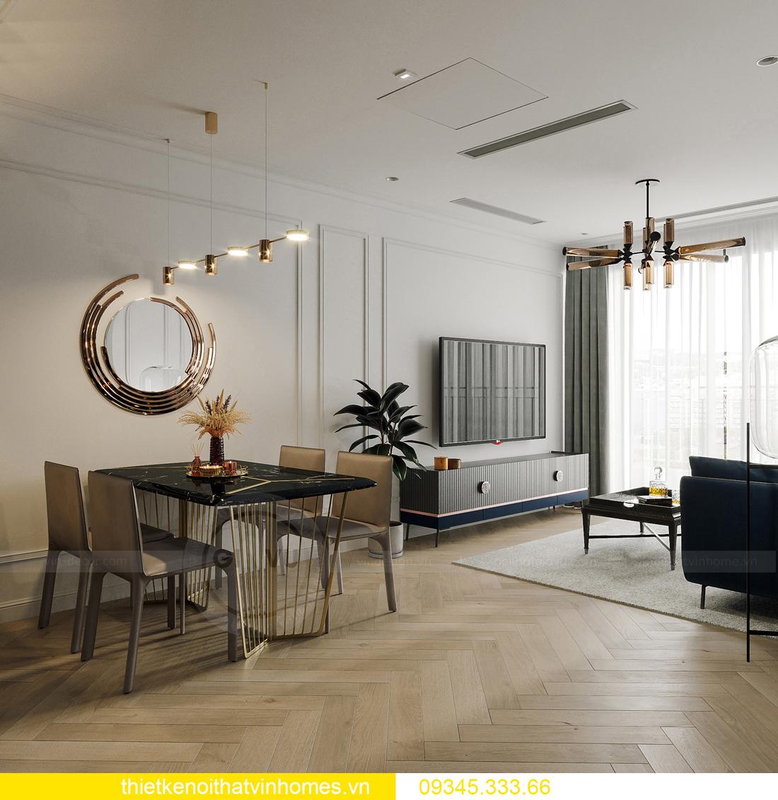 mẫu thiết kế nội thất chung cư Smart City tòa S201 căn 17 5