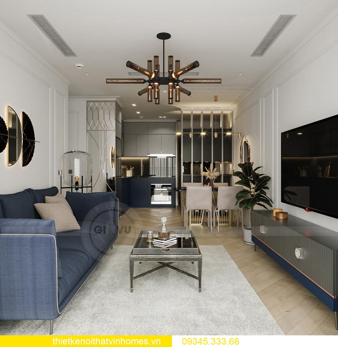 mẫu thiết kế nội thất chung cư Smart City tòa S201 căn 17 6