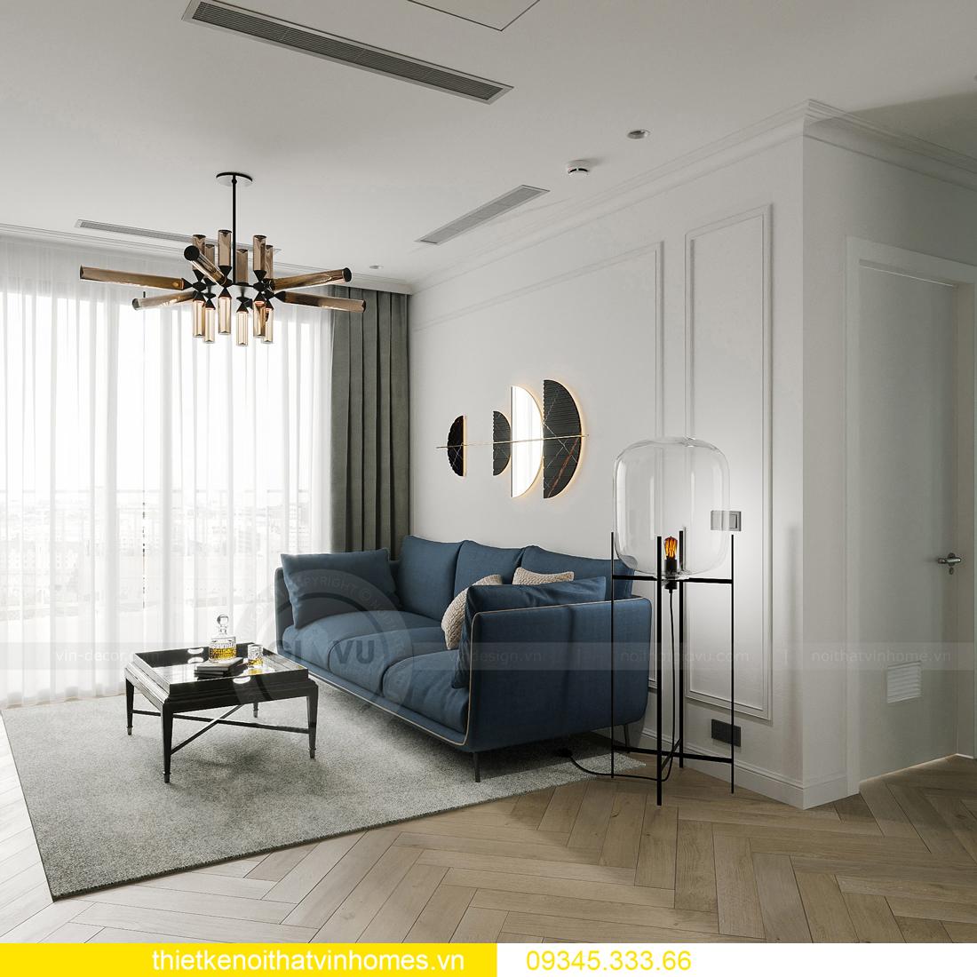 mẫu thiết kế nội thất chung cư Smart City tòa S201 căn 17 7