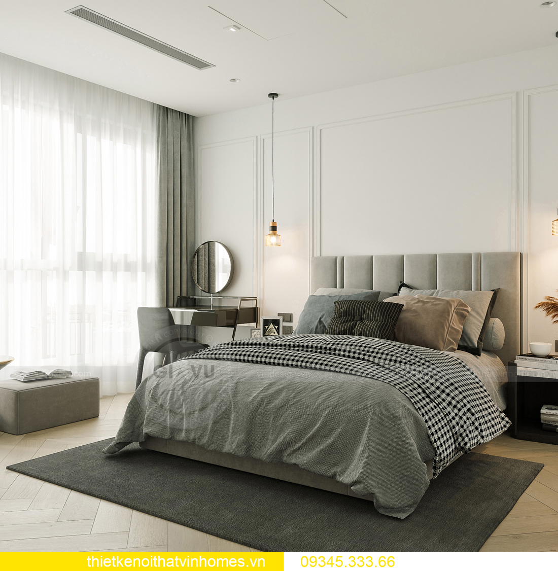 mẫu thiết kế nội thất chung cư Smart City tòa S201 căn 17 8