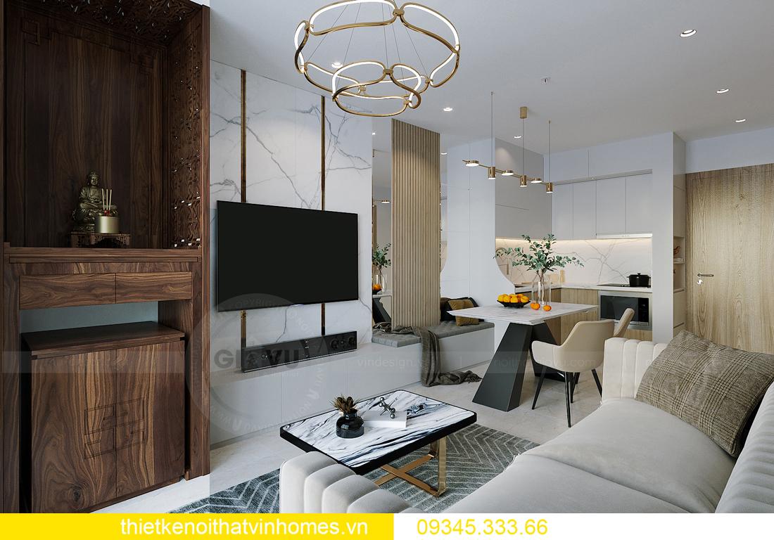 thiết kế nội thất căn hộ Vinhomes Smart City tòa S201 căn 03 3