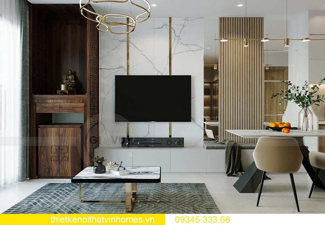 thiết kế nội thất căn hộ Vinhomes Smart City tòa S201 căn 03 4