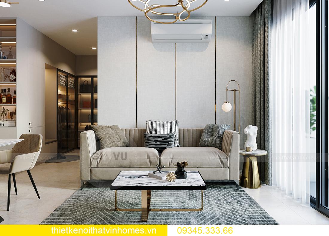 thiết kế nội thất căn hộ Vinhomes Smart City tòa S201 căn 03 5