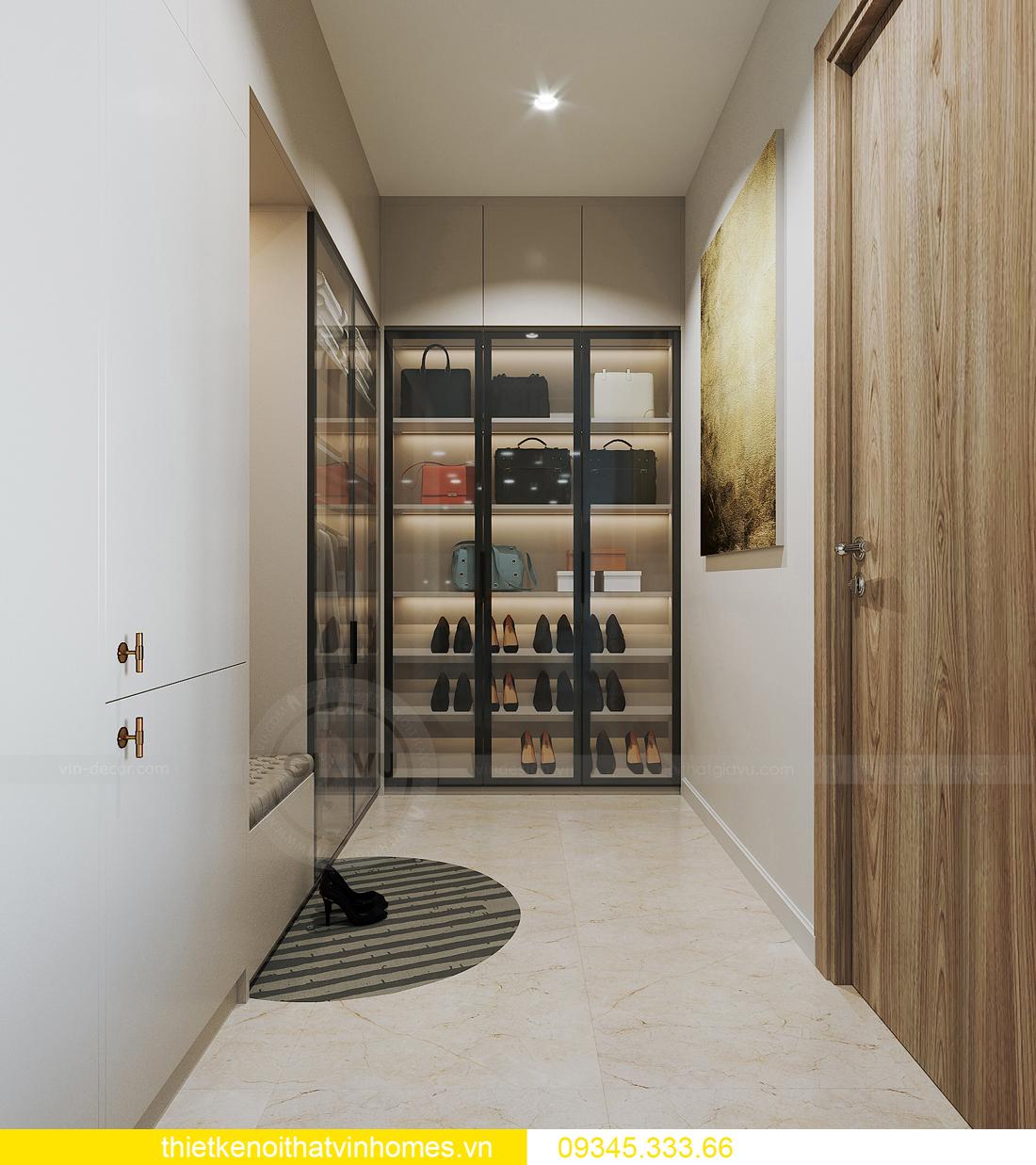 thiết kế nội thất căn hộ Vinhomes Smart City tòa S201 căn 03 6