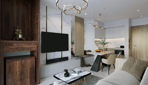 thiết kế nội thất căn hộ Vinhomes Smart City tòa S201 căn 03