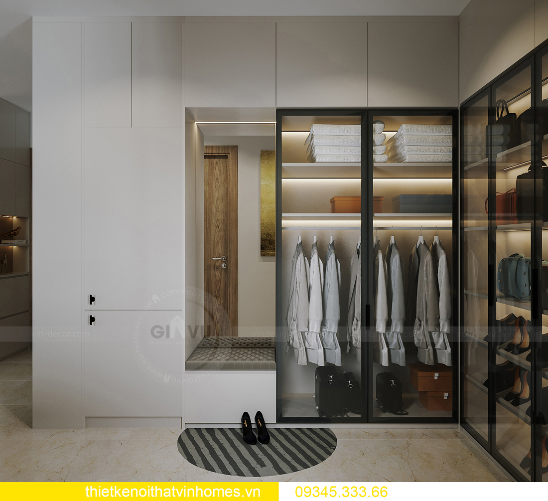 thiết kế nội thất căn hộ Vinhomes Smart City tòa S201 căn 03 7