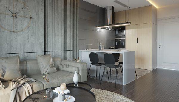 mẫu thiết kế nội thất căn hộ Smart City tòa S101 căn 11 1