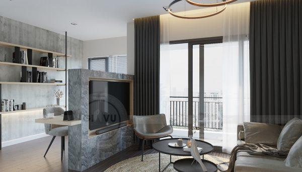 mẫu thiết kế nội thất căn hộ Smart City tòa S101 căn 11 3