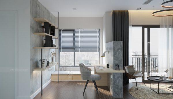 mẫu thiết kế nội thất căn hộ Smart City tòa S101 căn 11 4